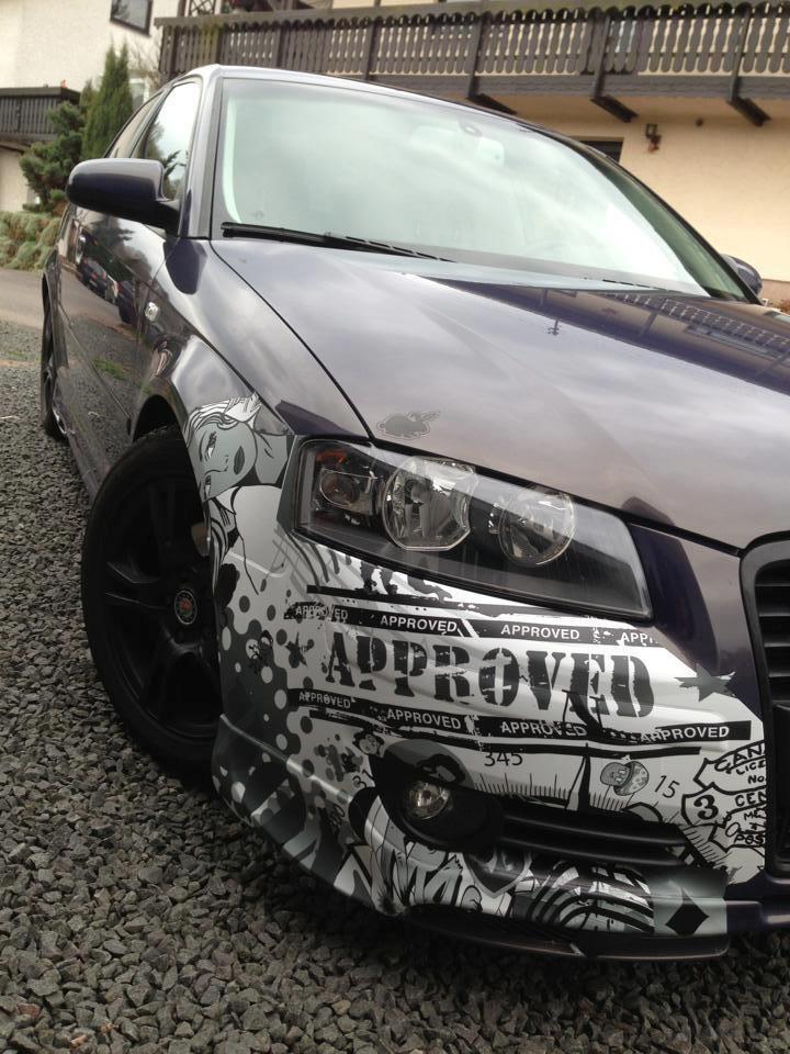 Audi A3 Stickerbomb Werbung Die Haften Bleibt Simon
